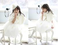2014 children's clothing baby girl's wedding cloak overcoat baby girl's wedding cape free shipping