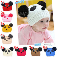 FREE SHIPPING NEW BEAUTIFUL GIRLS/BOYS BABY PANDA TODDLER CAPS HAT 8 COLOUR CHOOSE