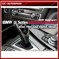 Auto 3D Carbon Fiber Interior Decoration Mouldings Stickers for BMW 3 Series F30 F35 320 328 335 Refit Accessories Sport Sticker