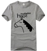Horse Lovers Prints shirts Customized T-shirts SPORTS wear short sleeve DIY T-shirt accept custom shirts