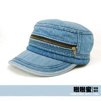 Honey 2013 zipper cadet military cap hat casual cap male women's autumn and winter hat
