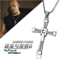 Paragraphs popularity explodes the film the fast and the furious 6 with the cross necklace for Male Man pendant&necklace