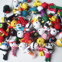 Freeshipping To World 10pcs New 2013 Fashion Voodoo boys girls' gift toys Doll Mobile Phone Straps ,style mix order #4003