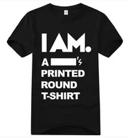 I am a * Prints shirts Customized T-shirts SPORTS wear short sleeve DIY T-shirt Men's Casual t-shirts