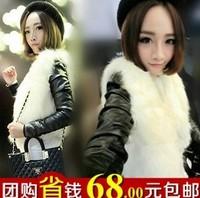 Plush fox fur vest women's faux autumn and winter vest fashion design short outerwear
