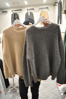 2013 autumn mohair clothes plus size basic long-sleeve sweater top outerwear female