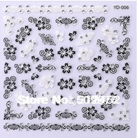 HOT 12 Sheet x 3D Nail Art Stickers Decal Mix Design Mix Flower drill  statement