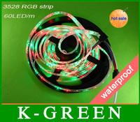 hot sales 3528 rgb led strip light 300LEDs/Roll DC12V waterproof flexible led strip light