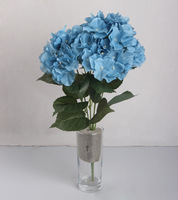 Free shipping 5 heads  artificial flowers hydrangea bouquet