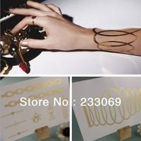 Fashion limit the quantity of 24K Golden Extravagant Tattoos Waterproof tattoo stickers Temporary Tattoo