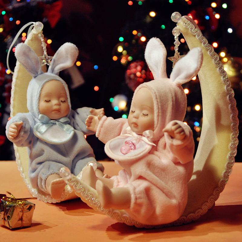 Caixa de música bebê coelho presente de aniversário de natal(China (Mainland))