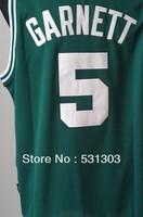 Free Shipping,#5 Kevin Garnett  Basketball jersey,Size 44-56