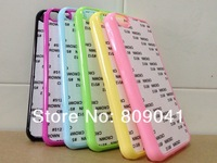 DIY Sublimation blank plastic case for iphone 5C with metal plate +glue print heat press free shipping 20pcs/lot