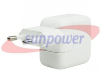 10PCS/LOT, 10W White USB Power Adapter & Wall Charger Replacement for iPhone 4 5 Apple iPad, Free sipping by DHL/UPS/FEDEX