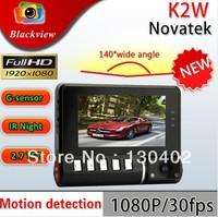 "Car Dvr K2W super-mini Full HD 1920*1080P lights 2.7"" 960*240 TFT LCD 4 times zoom Car Black Box.Free shipping"