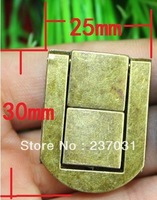 Archaize buckles/alloy small square buckle/wooden wine box lock button/antique box 25 x 30 mm