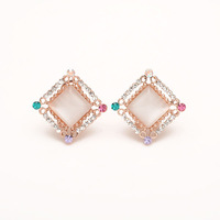 Accessories earring fashion rhinestone crystal stone stud earring