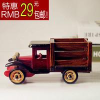 Handmade vintage retro classic cars model finishing wood craft gift home decoration
