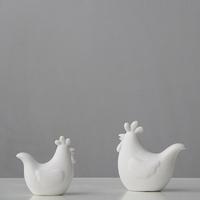 Modern brief nordic style white dull size decoration small cartoon ceramic