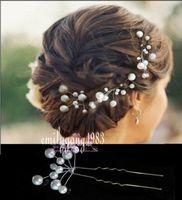 10Pcs Wedding Bridal White Pearl Flower Hair Pin Hair Accessory ,SP-805