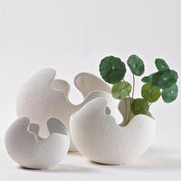 Modern abstract brief eggshell decoration vase tyranids wool scrub tv cabinet ceramic small decoration