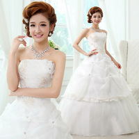 Wedding dress 2013 sweet princess wedding dress tube top quality ruffle wedding dress h12