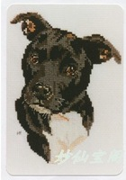 free shipping unfinished DIY cross stitch kit  animal Black Staffordshire Terrier dog ZA-G379