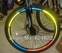 The new bicycle reflective mountain bike paper stickers article light shine