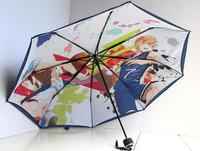 Basketball super double layer anti-uv three fold umbrella