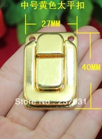 27 * 40 mm button number of wooden boxes taiping box/antique buckles/wine boxes, wooden box fastener yellow