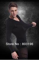 Wholesale 20Pcs/Lot Men's Body Shaping Long Sleeve Underwear Winter Thermal Slimming Underwear Free Shipping