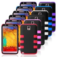 Hot Sell Free Shipping 1pcs 3 Layer Silicon Hybrid Case Cover For Samsung Galaxy Note 3 III N9000 N9005 N9006 Cases Covers