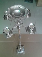 103CM height candelabra, 5-arms candle holder, silver plated candle stick