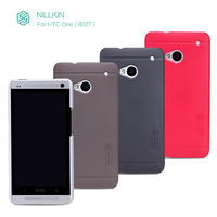 A Screen Film+Original Nillkin Ultra-thin Super Shield Shell Case For HTC One 802t/802w/802d,For HTC One dual sim phone case