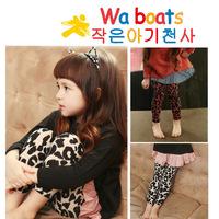 Free shipping 5pcs/lot 2014 Autumn baby new leggings Fashion leopard print trousers Kids soft pants Girls cotton clothes
