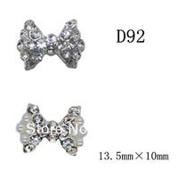 100pcs/design  Fashion 3D Alloy Crystal  Nail art Decoration of 3D alloy 3D nail art studs  D92 - D93
