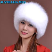 Hot Sale Christmas gift New Arrival Fashion women 100% genuine fox hair hat fashion fox fur cap warm cap Russian Winter Cap