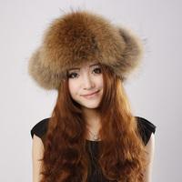 free shipping! Best Christmas gift! sweet! New Arrival Fashion women genuine rabbit hair hat +fashion+warm Russian Winter Cap