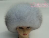 Free Shipping Fox Fur Hat, For Winter Women,Elegant Soft Warm,Fashion Russian Winter Warm Cap Hot Sale