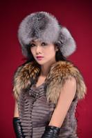 Free Shipping Russian Winter Cap For Winter Women,Elegant Soft Warm Fox Fur Hat,Fashion,Hot Sale