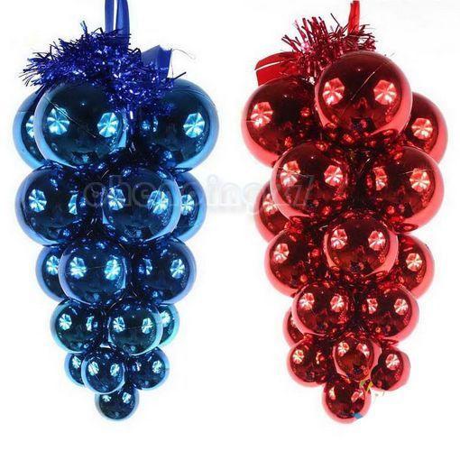 Beautiful Plastic Grape Bunch Pendant Christmas Tree Holiday Decoration Ornament(China (Mainland))