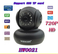 wanscam HW0021 1.0 Megapixel 720P HD TF-Card Support IR Cut H.264 Dual Audio Wireless Network Pan/Tilt NightVision IP Camera