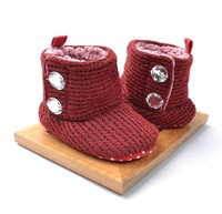 Baby Girl Rhinestone Snow Boots Infant Fashion Warm Cotton Shoes Toddler Winter Soft Knitted Boots Free Shipping Drop Shipping