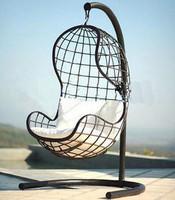 Fashion outdoor iron swing fashion brief hanging basket rocking chair single chair black