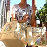 Five pieces set fashion 2013 bag nappy bag multifunctional cross-body big capacity mummy bag