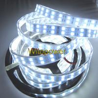16.4ft 5M 600 Leds Double Row 5050 SMD cool white LED Strip Light Lamp ribbon flexible Tube Waterproof 12V  Free shipping
