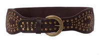 2013 latest european vintage buckles  hasp wide belts for women rivets brown belts cummerbunds 7.5cm wide off sale