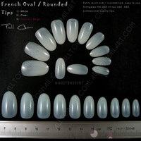 French Oval Full Cover Fake Nail Art Tips Natural Acrylic Artificial False Nail Tips -200 Sets Free Shipping