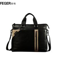 Man bag male handbag horizontal commercial genuine leather briefcase laptop bag casual backpack bag
