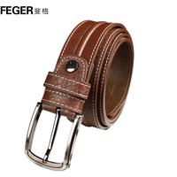 Feger strap male casual genuine leather belt male belt pin buckle cowhide 2013 men's belt